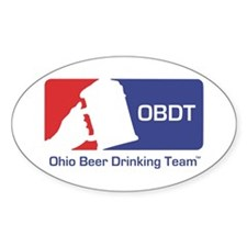 Ohio Beer Drinking Team Oval Decal