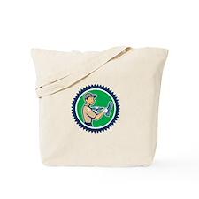 Plasterer Masonry Worker Rosette Cartoon Tote Bag