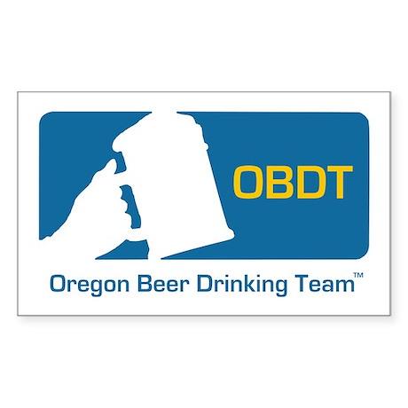 Oregon Beer Drinking Team Rectangle Sticker