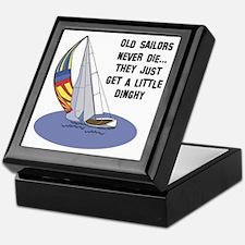 Old Sailors Never Die Keepsake Box