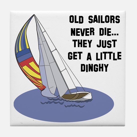 Old Sailors Never Die Tile Coaster
