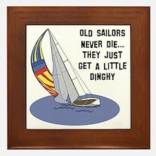 Old Sailors Never Die Framed Tile