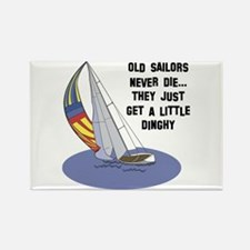Old Sailors Never Die Rectangle Magnet