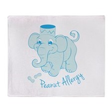 Peanut Allergy Throw Blanket