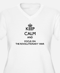 Keep Calm by focusing on The Rev Plus Size T-Shirt