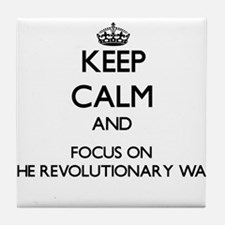 Keep Calm by focusing on The Revoluti Tile Coaster