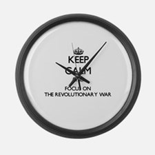 Keep Calm by focusing on The Revo Large Wall Clock