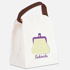 Fashionista Purse Canvas Lunch Bag