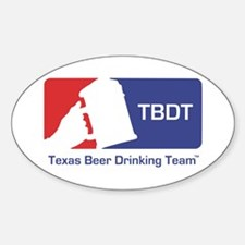 Texas Beer Drinking Team Oval Decal