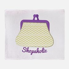Shopaholic Purse Throw Blanket