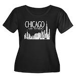 Chicago My Town Women's Plus Size Scoop Neck Dark