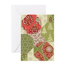 Christmas Quilt Pattern Greeting Cards