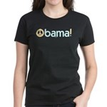 Obama for Peace Women's Black Tee