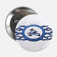 Biker Chick - Blue Button