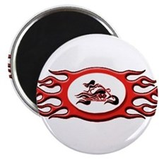 Biker Chick - Red Magnet