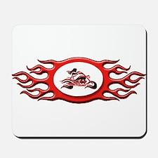Biker Chick - Red Mousepad