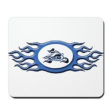 Biker Chick - Blue Mousepad