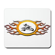 Biker Chick -Yellow Mousepad