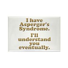 Asperger's 2 Rectangle Magnet