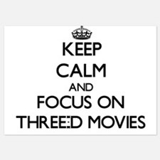 Keep Calm by focusing on Three-D Movie Invitations