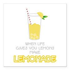 "Make Lemonade Square Car Magnet 3"" x 3"""