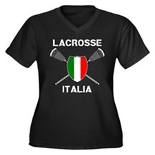 Lacrosse Italia Women's Plus Size V-Neck Dark T-Sh