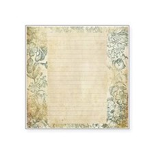 Blue Floral Vintage Lined Page Sticker