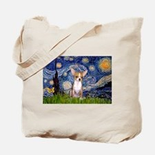 Starry Night Chihuahua Tote Bag