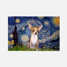 Starry Night Chihuahua Rectangle Magnet