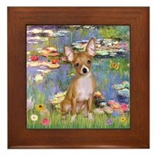 Lilies (2) & Chihuahua Framed Tile