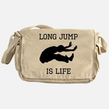 Long Jump Is Life Messenger Bag