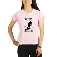 Skiing Is Life Performance Dry T-Shirt