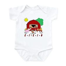 Old MacDonald Farm Nursery Rhymes Baby Bodysuit
