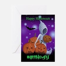 Halloween Birthday Ghost Card Greeting Cards