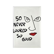 50th birthday sexy woman Rectangle Magnet