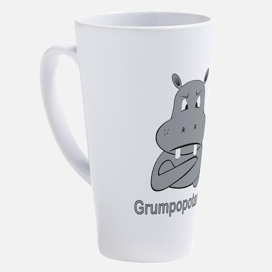 grumpopotamus 17 oz Latte Mug