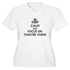 Keep Calm by focusing on Toaster Plus Size T-Shirt