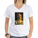 Fairies & Chihuahua Women's V-Neck T-Shirt