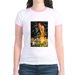 Fairies & Chihuahua Jr. Ringer T-Shirt