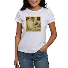 Vintage Letter With Rose Paper T-Shirt