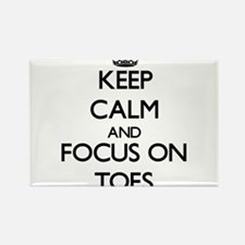 Keep Calm by focusing on Toes Magnets