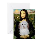 Mona's Coton de Tulear Greeting Cards (Pk of 10)