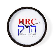 Jews For Hillary 2008 Wall Clock