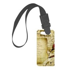 Vintage Letter With Rose Paper Luggage Tag