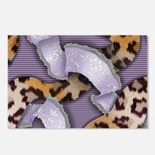Leopards and Lace - Purpl Postcards (Package of 8)