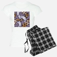 Leopards and Lace - Purple Pajamas