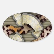 Leopards and Lace - Yellow Decal