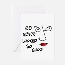 60th birthday sexy woman Greeting Cards (Package o