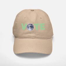 Vote Green Baseball Baseball Cap