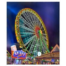 The Ferris Wheel Wall Art Poster